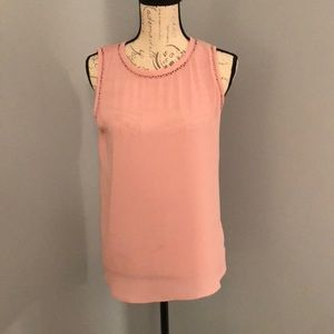 Blush pink, mixed material, Loft top.